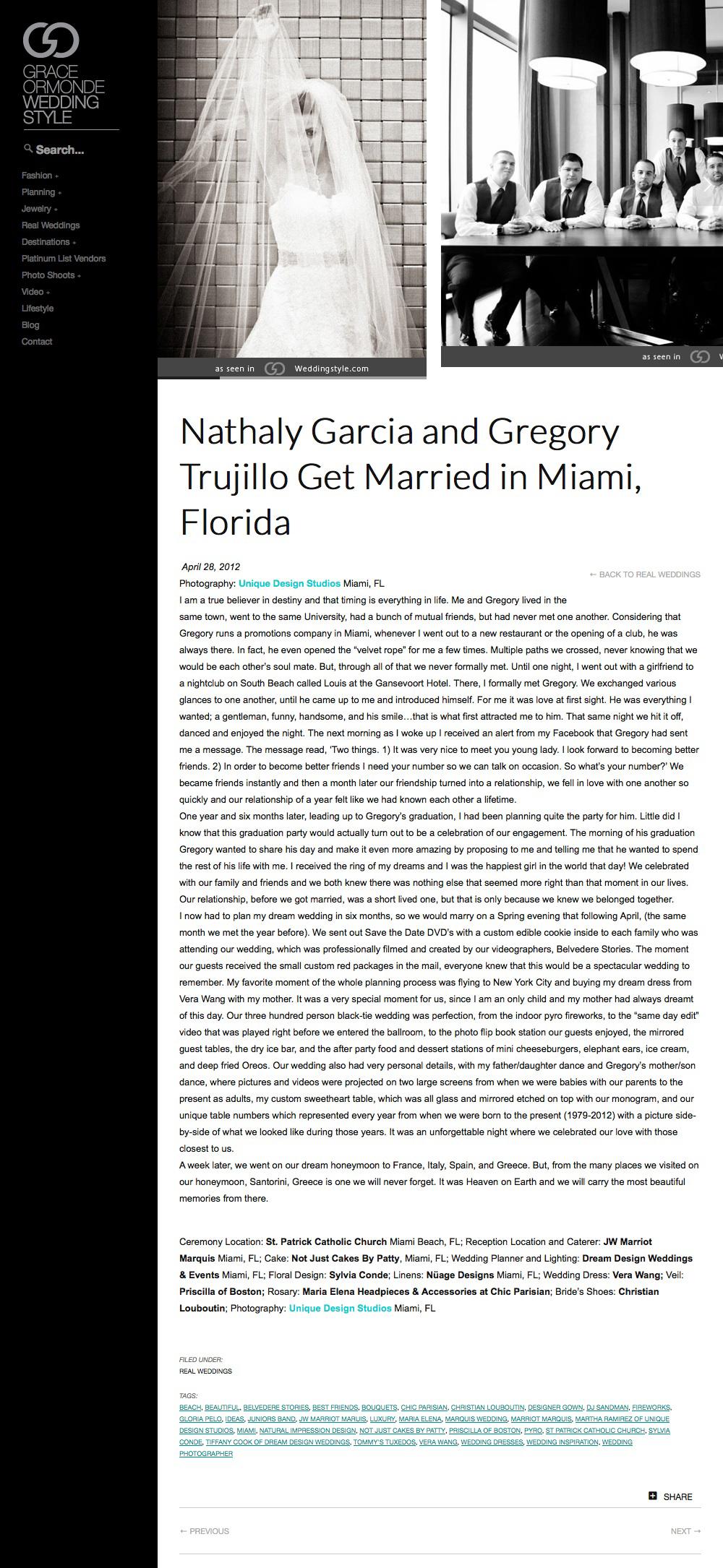 Nathaly Garcia and Gregory Trujillo | Grace Ormonde Wedding Style